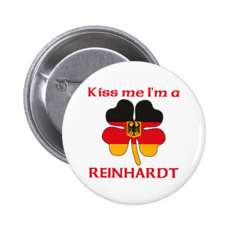Personalized German Kiss Me I m Reinhardt Pinback Button