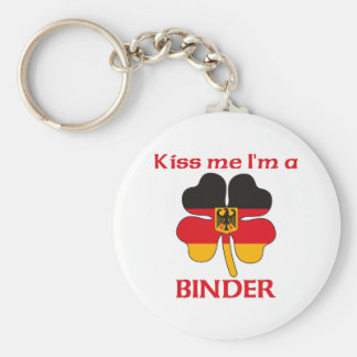 Personalized German Kiss Me I'm Binder Key Chains