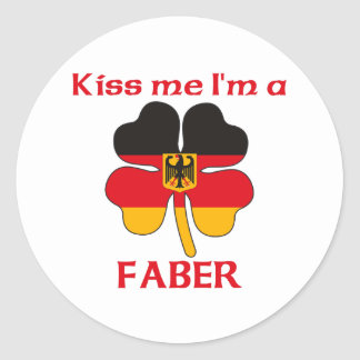 Personalized German Kiss Me I'm Faber Round Sticker