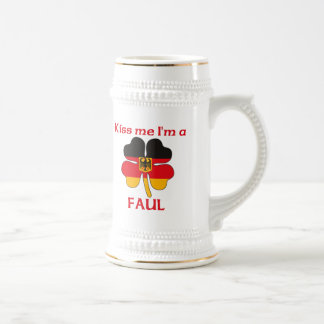Personalized German Kiss Me I'm Faul Beer Steins
