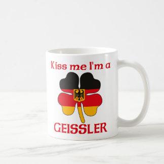 Personalized German Kiss Me I'm Geissler Basic White Mug