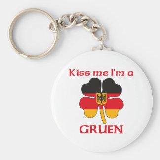 Personalized German Kiss Me I'm Gruen Key Chain