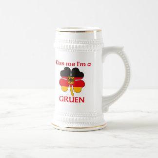 Personalized German Kiss Me I'm Gruen Coffee Mug