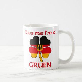 Personalized German Kiss Me I'm Gruen Mug