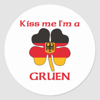 Personalized German Kiss Me I'm Gruen Sticker