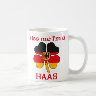 Personalized German Kiss Me I'm Haas Basic White Mug