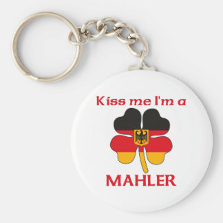 Personalized German Kiss Me I'm Mahler Keychain