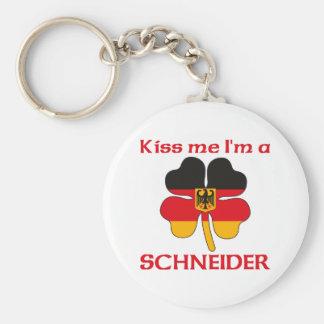 Personalized German Kiss Me I'm Schneider Basic Round Button Key Ring