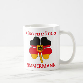 Personalized German Kiss Me I'm Zimmermann Basic White Mug
