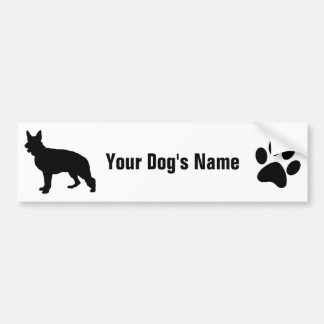 Personalized German Shepherd Dog ジャーマン・シェパード・ドッグ Bumper Sticker