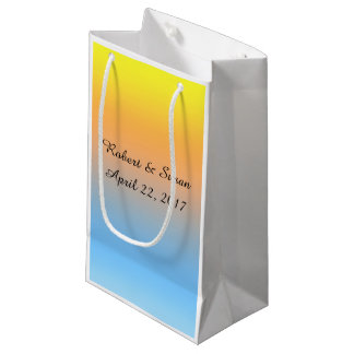 Personalized Gift Bag with Sunset Beach Colors