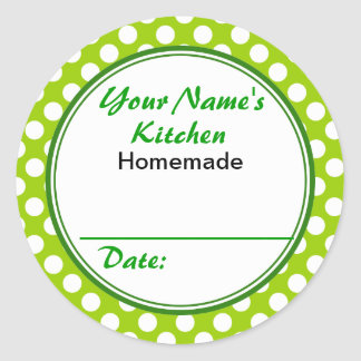 Personalized Gifts for Bakers Your Kitchen Round Round Sticker