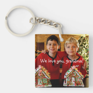 Personalized Gifts For Grandma Square Key Chain