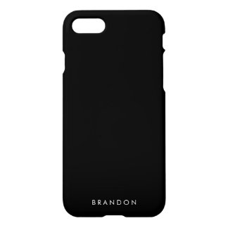 Personalized Gifts For Men Black iPhone 7 Case