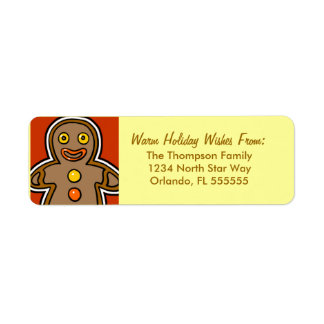 Personalized Gingerbread Man Return Address Labels