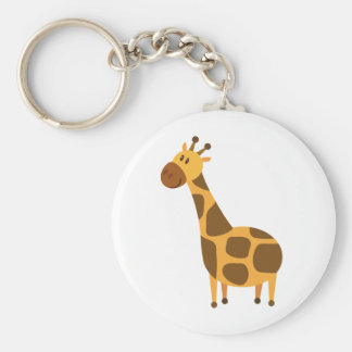 Personalized Giraffe Kids Cartoon Gift Basic Round Button Key Ring