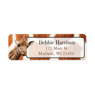 Personalized Giraffe Stripes Return Address Labels