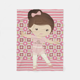 Personalized Girl Ballerina Fleece Blanket