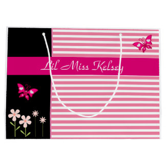 Personalized Girlie Large Gift Bag