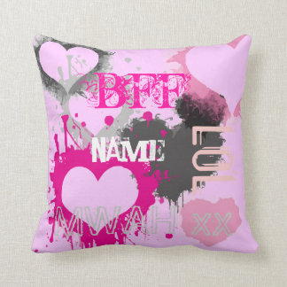 Personalized Girls BFF Best friends forever Cushion