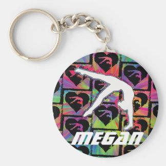 Personalized Girls Gymnastics Dance Keychain