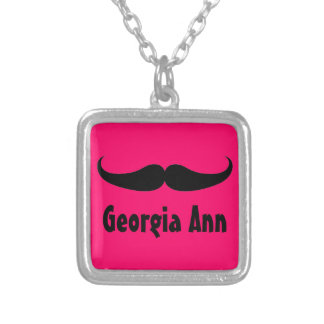 Personalized Girls Mustache Popular Necklace Gift