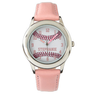 Personalized Girl's Softball Watch
