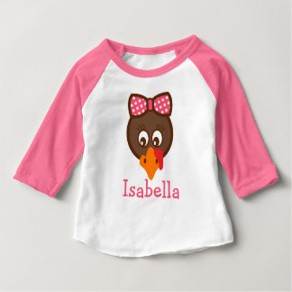 Personalized Girls Thanksgiving Pink Shirt