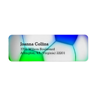 Personalized Girly Colorful Soccer | Football Return Address Label