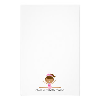 Personalized Girly Gymnastics Stationery