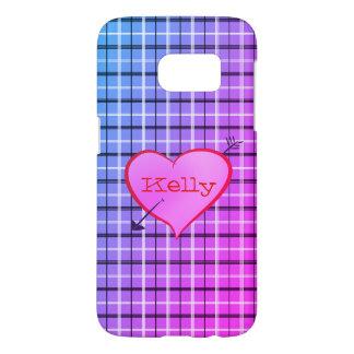 Personalized Girly Heart Tartan Cute Sweet Kelly
