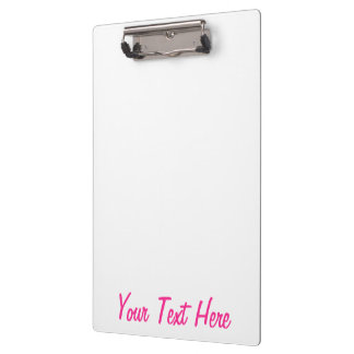 Personalized Girly Hot Pink Color Customize This! Clipboard