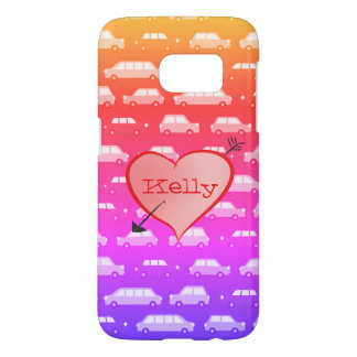Personalized Girly Pink Cars Retro Funny Heart