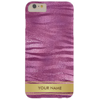Personalized Girly Pink Gold Stripes Giraffe Case
