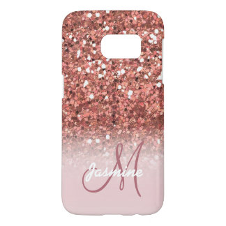 Personalized Girly Rose Gold Glitter Sparkles Name