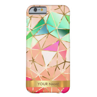 Personalized Glam Rainbow Diamond Vip Gold Barely There iPhone 6 Case
