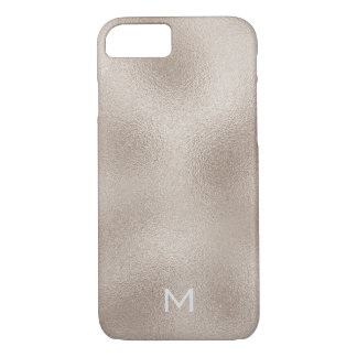 Personalized Glam White Gold Ivory Metallic iPhone 8/7 Case