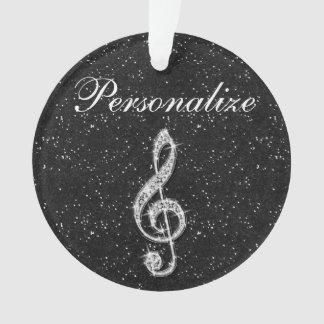 Personalized Glitzy Sparkly Diamond Music Note