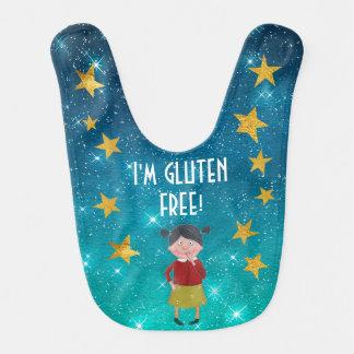 Personalized Gluten Free Allergy List Stars Sky Bib