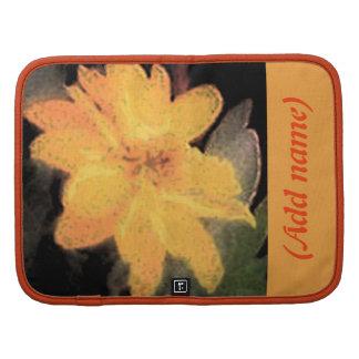 Personalized Gold Flower Rickshaw Folio Planners