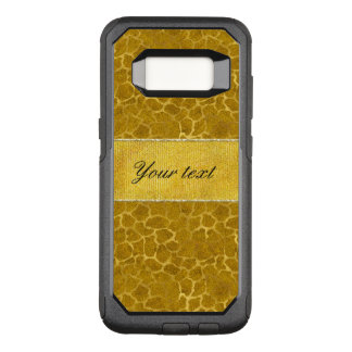 Personalized Gold Foil Giraffe Skin Pattern OtterBox Commuter Samsung Galaxy S8 Case