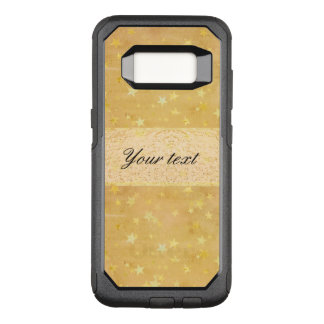Personalized Gold Foil Stars Watercolor OtterBox Commuter Samsung Galaxy S8 Case