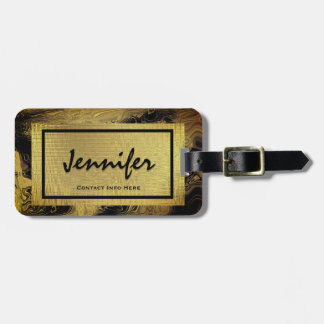 Personalized Gold Glam Luggage Tag