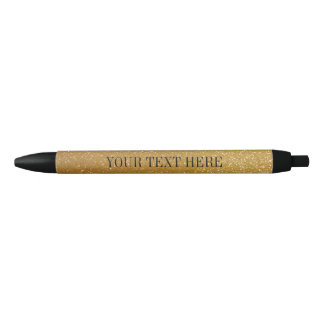 Personalized gold glitter pen | custom luxe text