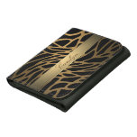 personalized gold leopard print wallet
