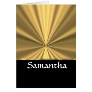 Personalized gold look and black card