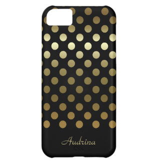 Personalized: Gold Polka-dot iPhone 5C Case