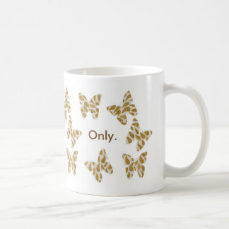 Personalized Gold Spangled Butterfly Mug