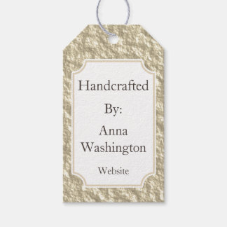 Personalized Golden Handcrafted Tag