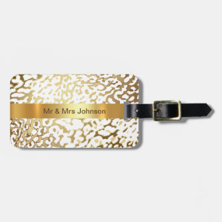 Personalized Golden Lampard Cat Luggage leather Luggage Tag